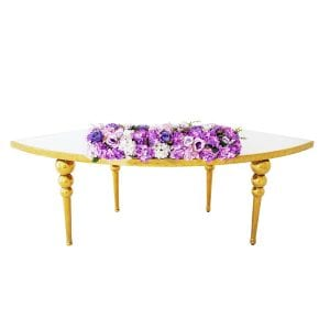 Purple Flower Arrangement Rectangle Table