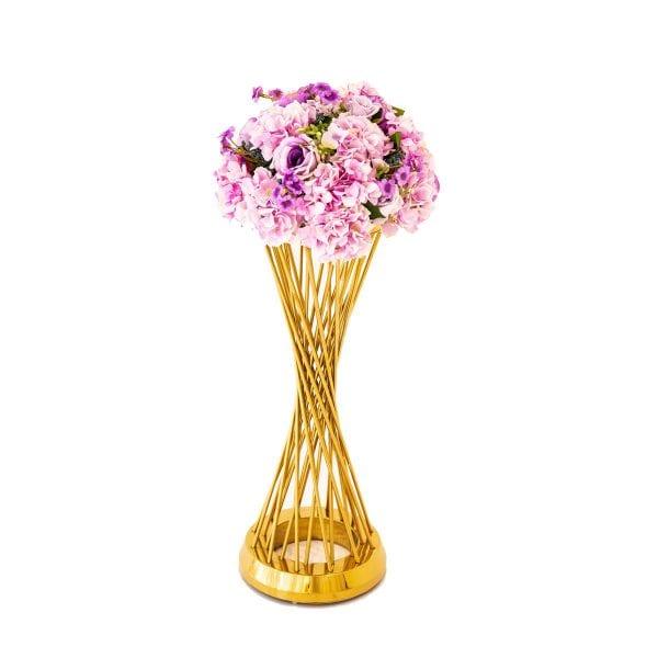 Purple Flower Arrangement round Table