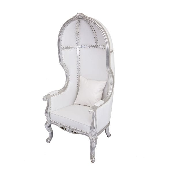 Silver Dome Throne Rental