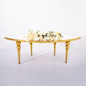 Ivory Flower Arrangement Rectangle Table