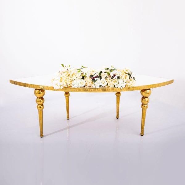 Ivory Flower Arrangement Rectangle Table