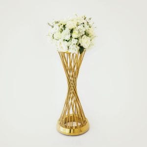 White Flower Arrangement Round Rental