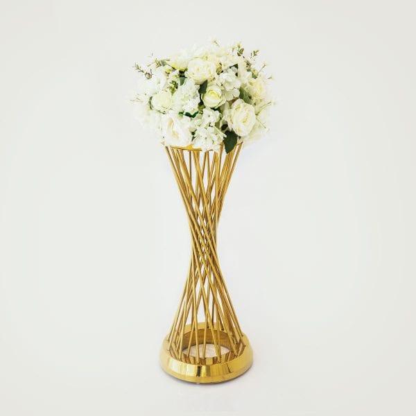 White Flower Arrangement Round Rental