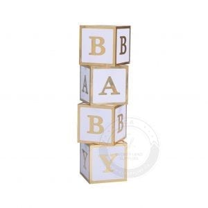 Baby shower, baby blocks, baby letters