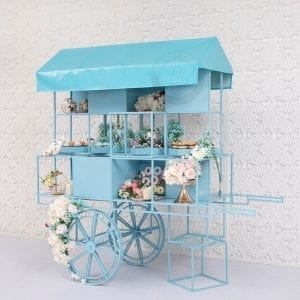 Blue Dessert Cart for Rent