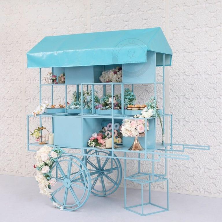 Blue Dessert Cart for Rent