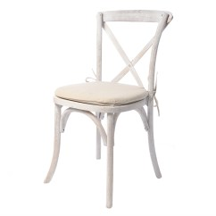 White X Back Chair Dining Covers In Johannesburg Rustic Whitewash Event Rents