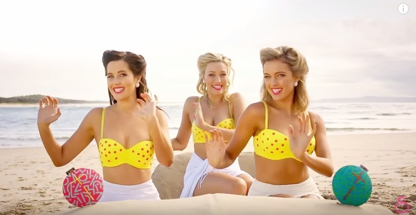 The Karaoke Queens Itsy Bitsy Teeny Weeny Yellow Polka Dot Bikini - SketchShe