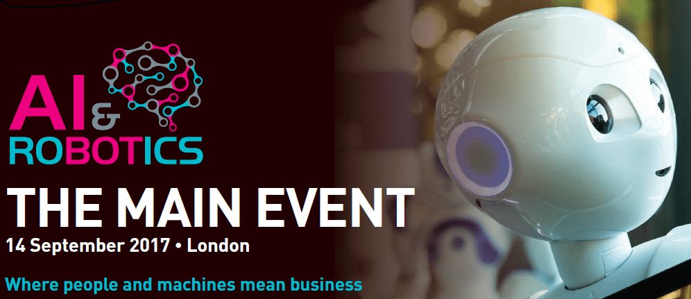Save £100 with homeAI.info at AI & Robotics THE MAIN EVENT