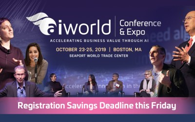 Envision The Future of AI Tech & Innovation at the AI World Conference & Expo 2019