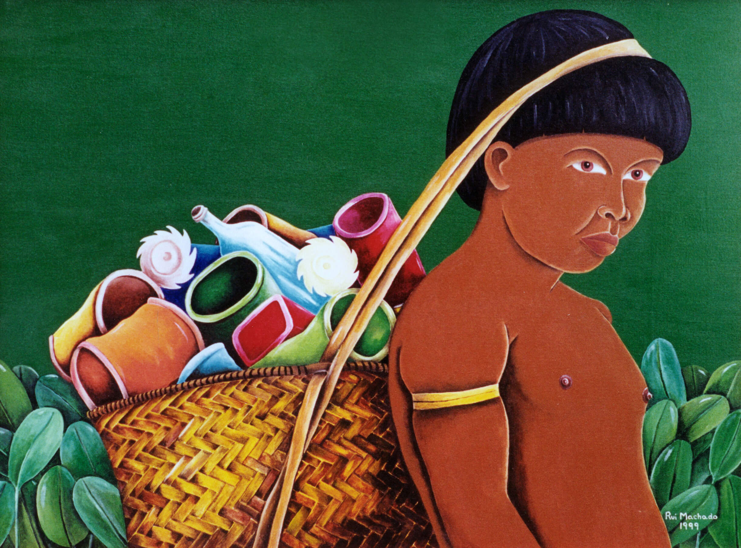 Série: Sobre vivência - Brasil 500 anos, (70 x 50 cm), acrílica sobre tela, 1999