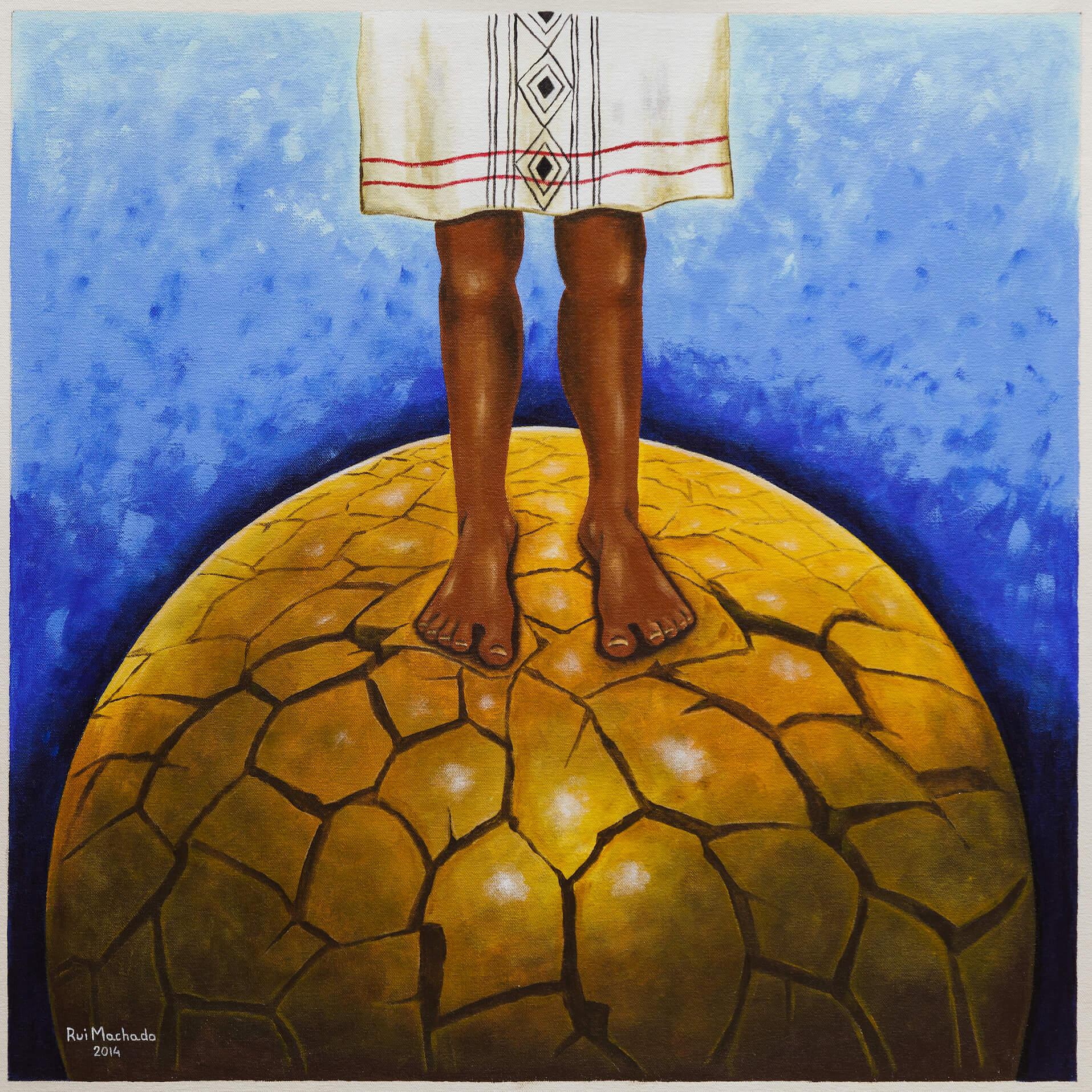 """Série: """"Pachamama"""", (70 x 70 cm), acrílica sobre tela, 2014"""