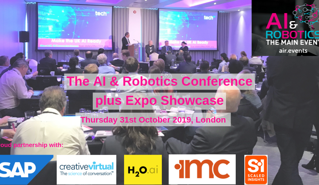 AI & Robotics and CX Tech Conference – 31st Oct – Full Programme Available