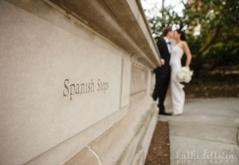 The Spanish Steps offer another location for photography near our wedding venue.