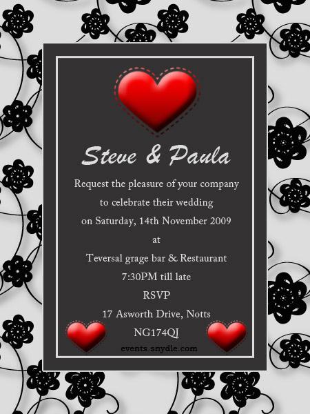 Wedding Invitation Greetings