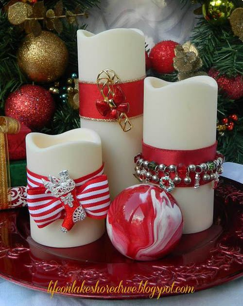 Beautiful Christmas Candle Decoration Ideas  Festival