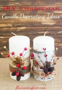 Beautiful Christmas Candle Decoration Ideas