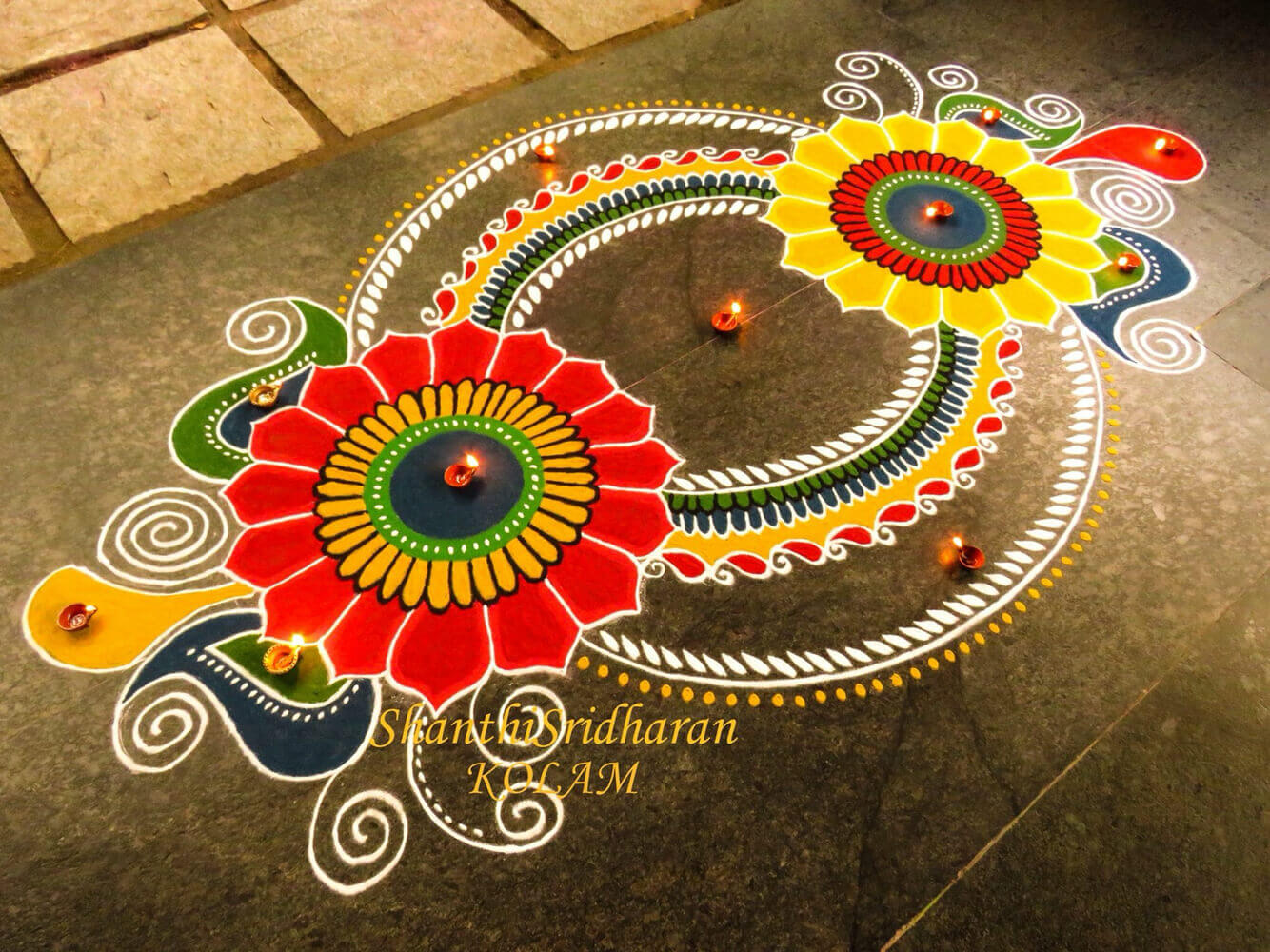 Gorgeous Rangoli Designs And Ideas For Diwali 2017 Festival Around The World