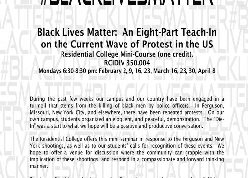 (Expired) #Black Lives Matter: A Minicourse by the