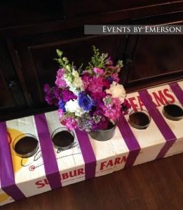 Bride's bouquet and bouquet box