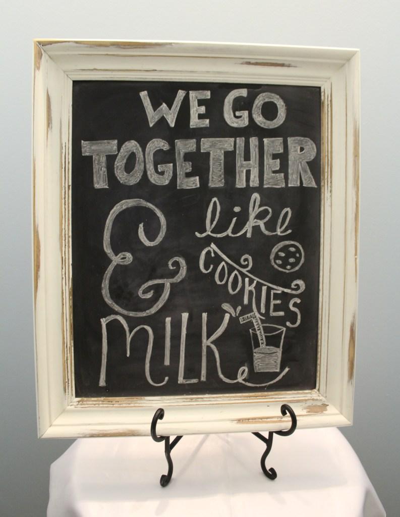 White Framed Chalkboard Image
