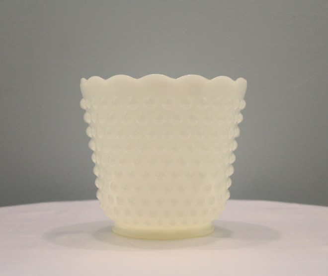 Milk Glass Hobnail Bowl Image