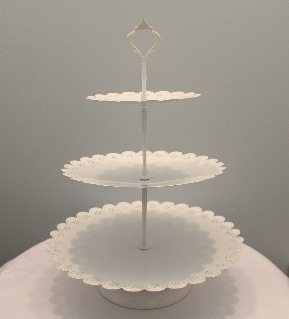 White 3 Tier Dessert Tray Image