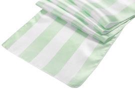 Mint Green & White Stripe Table Runner Image