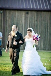 Bride and her father coming down the aisle