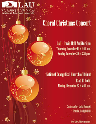 LAU Events Choral Christmas Concert