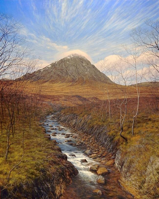 'Etive Moor' Acrylic on canvas by Steve Whitehead