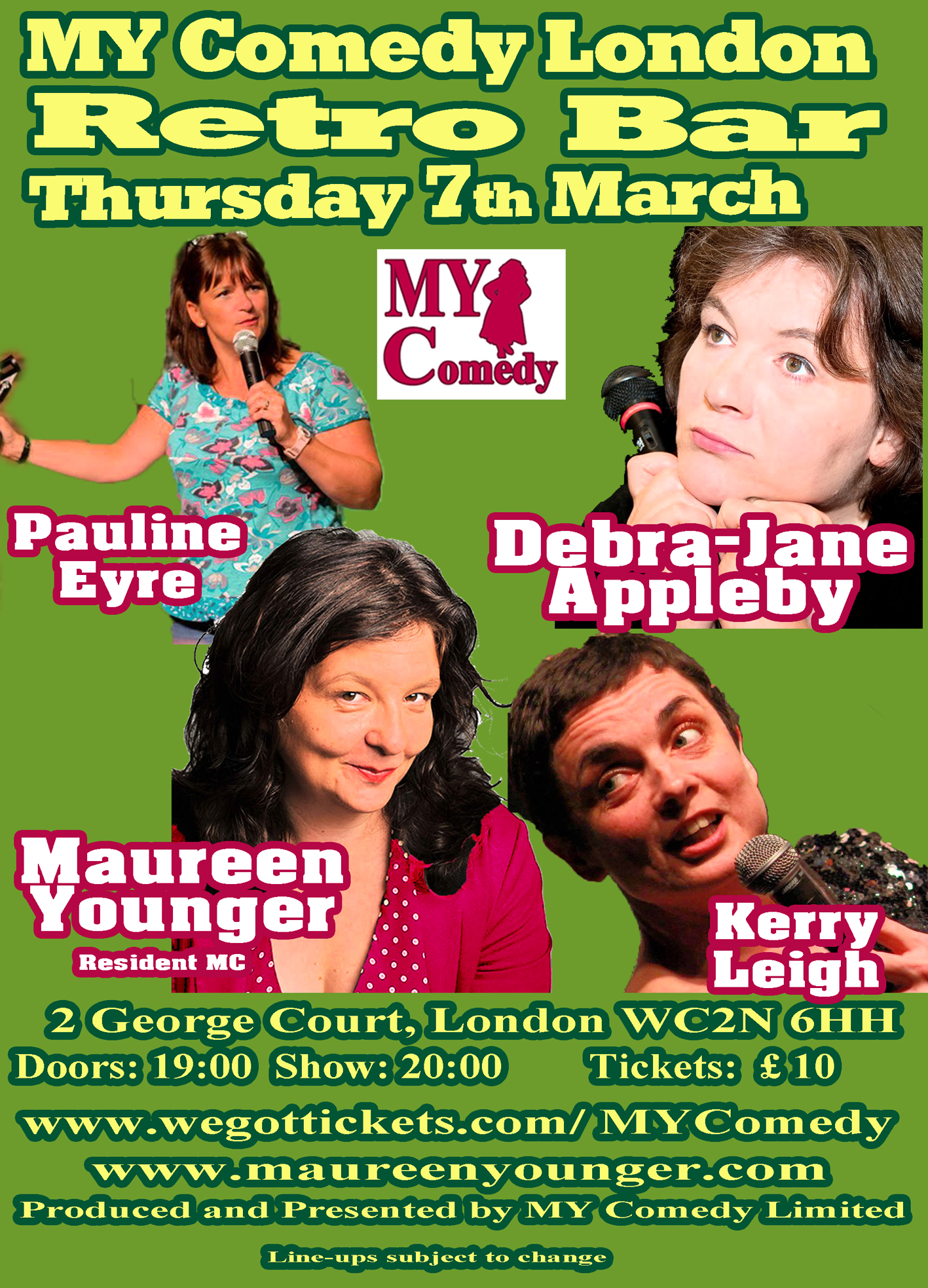My Comedy With Debra Jane Appelby Kerry Leigh