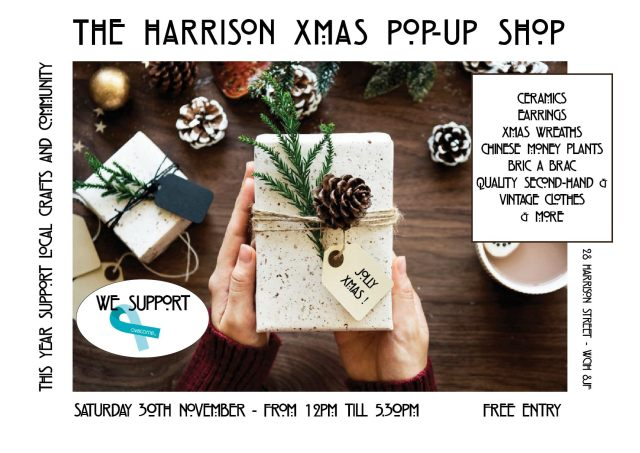 harrison pop up shop