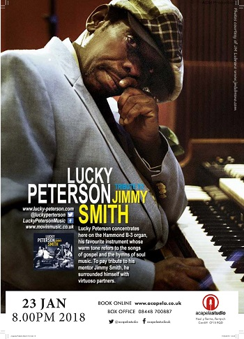 Lucky Peterson at Acapela Studio Cardiff - EventsnWales