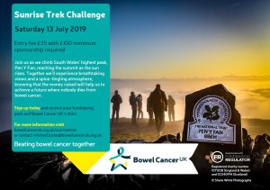 Bowel Cancer UK - Sunrise Trek Challenge @ Pen y Fan