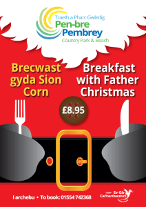 Brecwast gyda Sion Corn: Breakfast with Father Christmas @ Pembrey Country Park