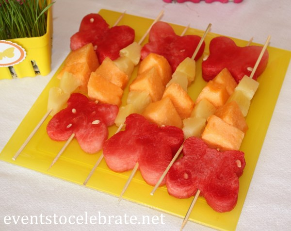 Fruit Kabobs for Birthday Party