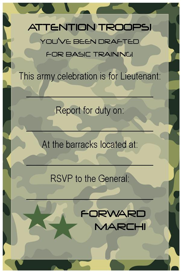 Free Printable Invitations Army Car Racing Swim Party Events Invitation Templates