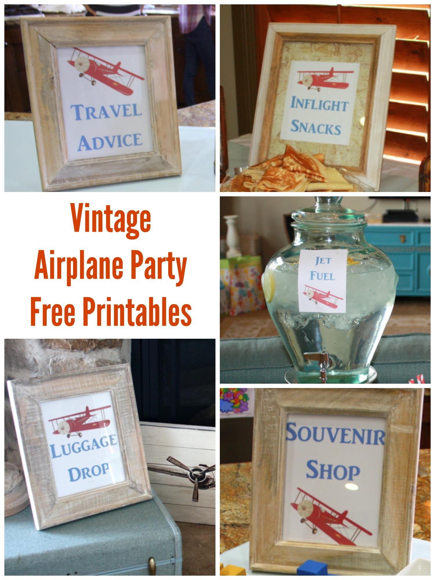 Vintage Airplane Shower Printables Amp Games
