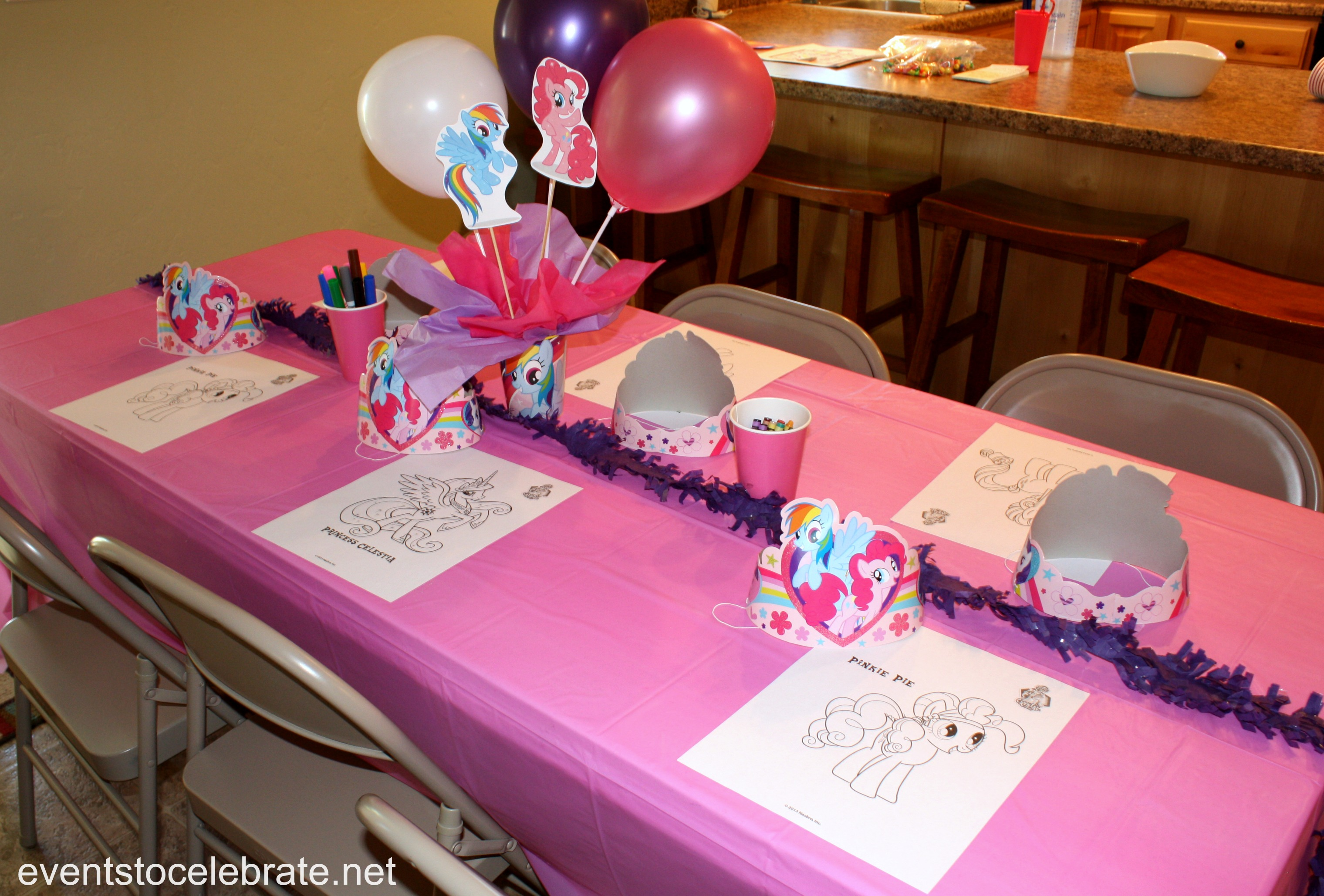 my little pony table and chairs office chair carpet mat party ideas events to celebrate