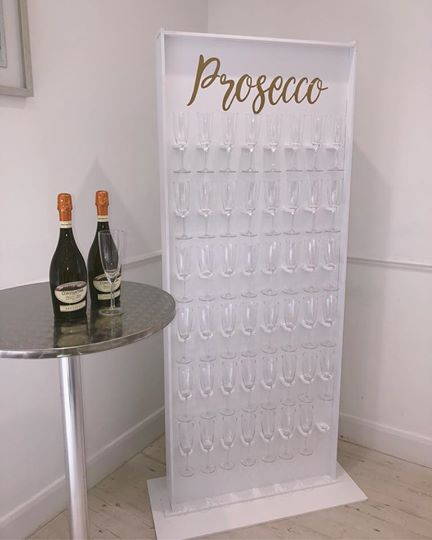 White Prosecco Wall