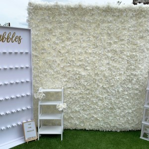 Large Ivory Flower Wall Hire for Weddings, Birthdays, Christening, Corporate Event Walls