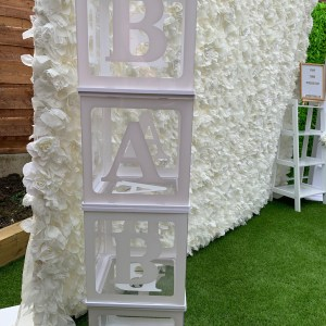 White BABY Blocks for Baby Shower's and Gender Reveal Parties