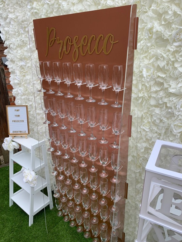 Rose Gold Prosecco Wall