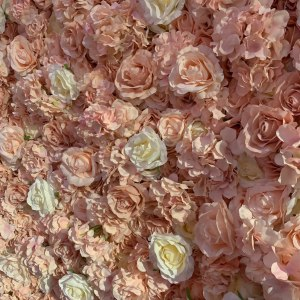 Pink and Ivory Flower Wall