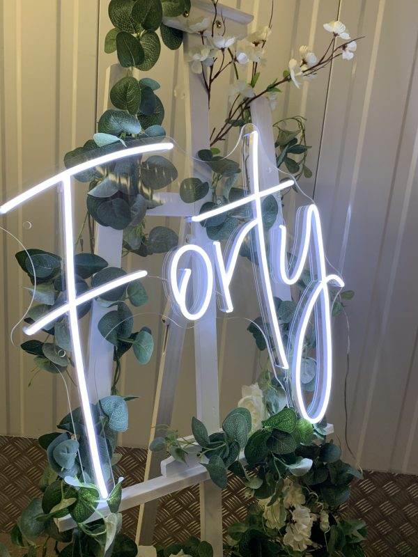 Forty / 40th Birthday Neon Sign