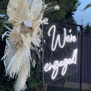 We're Engaged Neon Sign