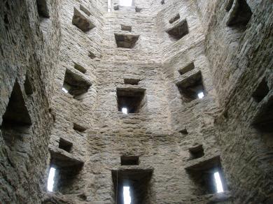Indersiden af de gamle vagttårne
