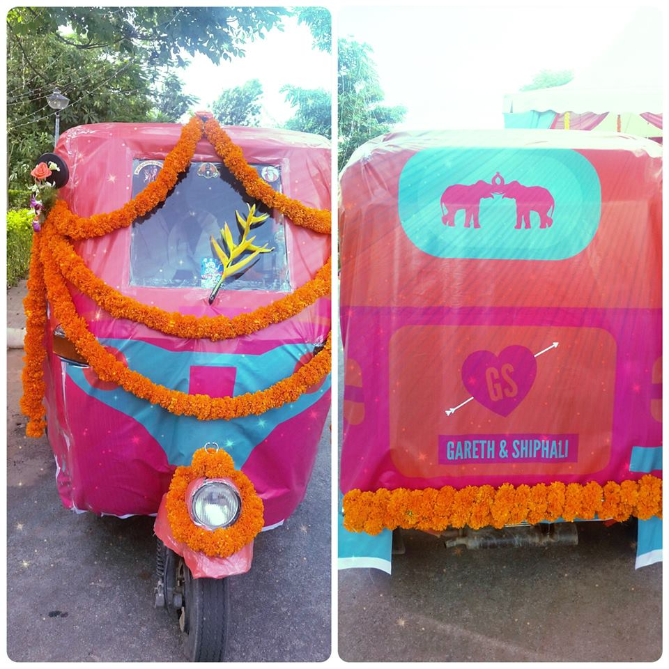 Rickshaw and Auto at Indian Weddings