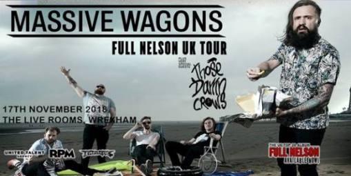 Massive Wagons Gig Flyer